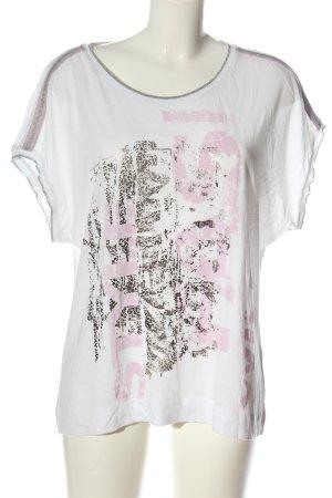 Tuzzi T-shirt bianco motivo astratto stile casual
