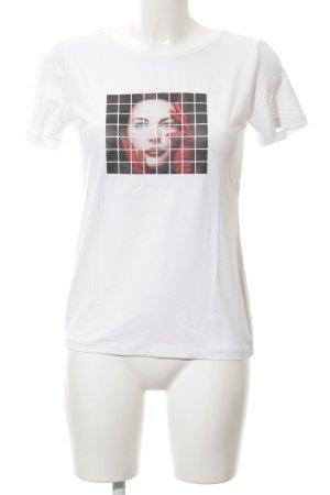Tuzzi T-Shirt weiß Motivdruck schlichter Stil