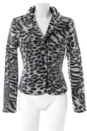 Tuzzi Giacca mezza stagione nero-bianco motivo animale stile casual