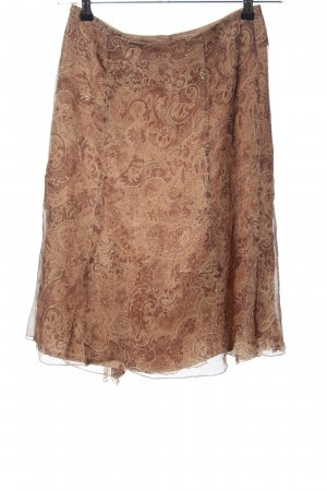 Tuzzi Flounce Skirt brown-cream graphic pattern casual look