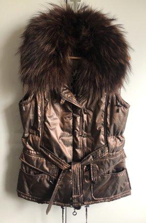 Tuzzi Chaleco acolchado marrón-color bronce