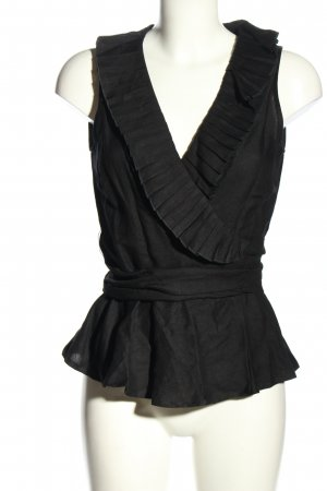 Tuzzi Wikkelblouse zwart elegant