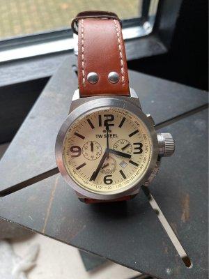 TW Steel Marc Coblen Edition Digital Watch oatmeal-cognac-coloured