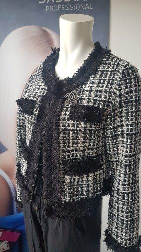 Schneider Veste en laine blanc-noir