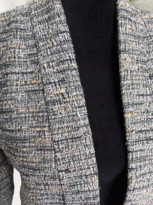 Mango Suit Tweed blazer wit-leigrijs