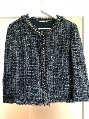 Atos Lombardini Blazer en tweed noir-gris