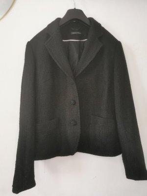 Gabriella Benelli Blazer in tweed nero-argento Lana