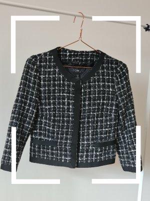 H&M Tweed blazer wit-zwart