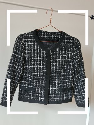 H&M Blazer in tweed bianco-nero