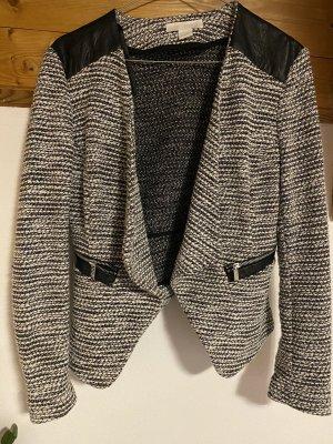 H&M Tweedowa marynarka czarny-biały