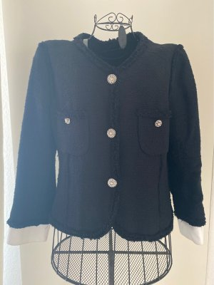 Zara Woman Tweed Blazer black-white