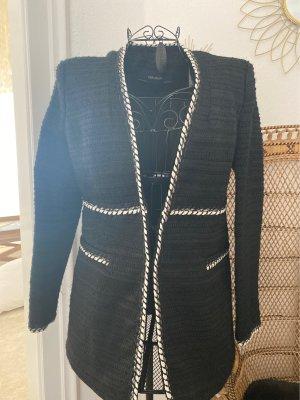 Zara Basic Blazer in tweed nero-bianco