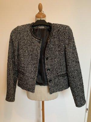 guarapo Blazer in tweed bianco-nero
