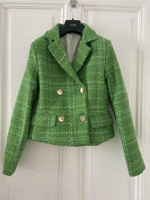 Blazer en tweed vert