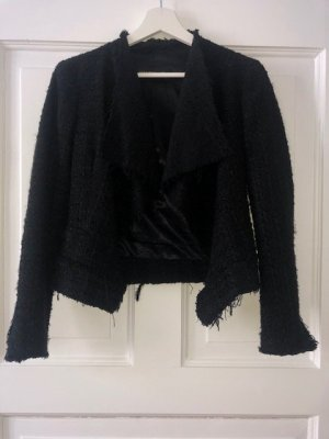 Zara Woman Tweed blazer zwart