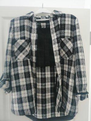 Zara Basic Camicia da boscaiolo nero-bianco Tessuto misto