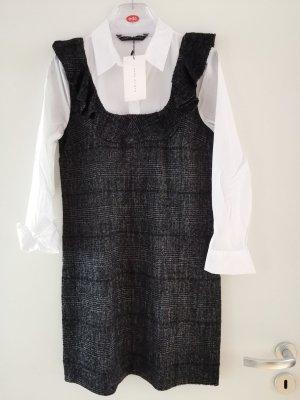 Tweed Kleid mit integriertem Hemdblusenoberteil Gr. M