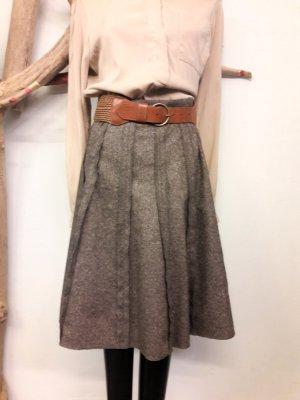 Esprit Falda de talle alto marrón-beige