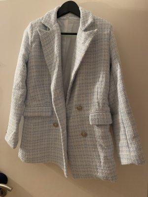 Tweedblazer Tweed Blazer von Shein in hellblau