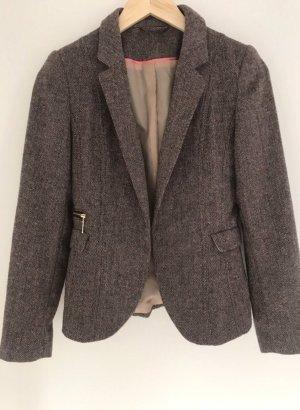Zara Blazer Tweed marrón-marrón claro
