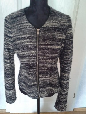 Massimo Dutti Tweed Blazer white-black