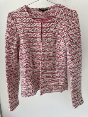 Tweedjacke Boucle rosa weiß