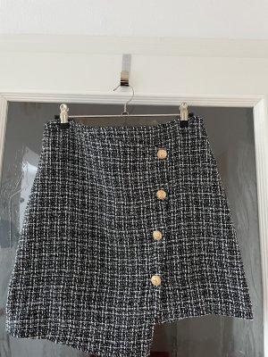 Sheinside Tweed rok wit-zwart