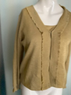 Lalique Paris Sweater Twin Set gold-colored