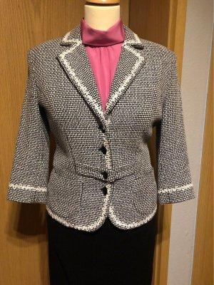 Maßanfertigung Tweed Blazer black-white
