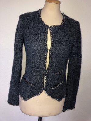 Tweed Blazer slate-gray