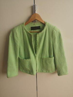 Zara Basic Blazer en tweed vert clair