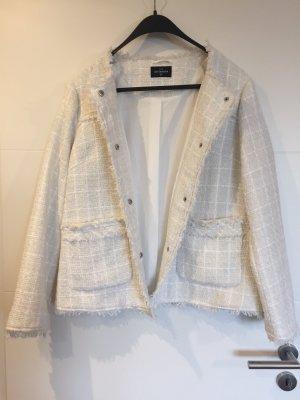 C&A OUTERWEAR Blazer in tweed bianco-bianco sporco