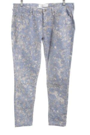 Twenty8twelve 7/8 Jeans blau-hellgrau Allover-Druck Casual-Look