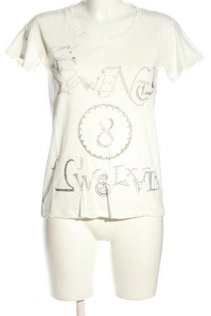 Twenty8twelve T-Shirt weiß-silberfarben Motivdruck Casual-Look