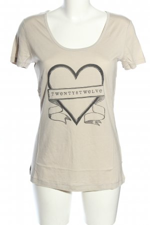 Twenty8twelve T-Shirt wollweiß-schwarz Motivdruck Casual-Look