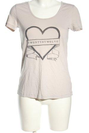 Twenty8twelve T-Shirt hellgrau Motivdruck Casual-Look