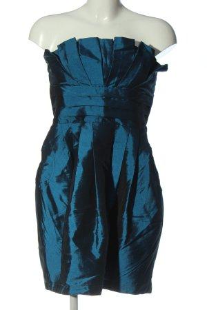 Twentyone Robe épaules nues bleu style mouillé