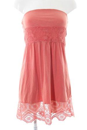 Twentyone schulterfreies Kleid lachs schlichter Stil