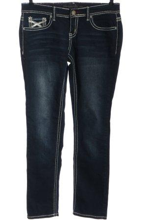 Twentyone Jeans coupe-droite bleu style décontracté