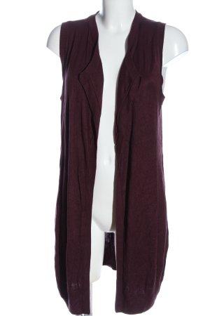 twik Gilet long tricoté violet style décontracté
