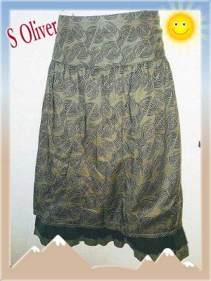 s.Oliver Asymmetry Skirt multicolored