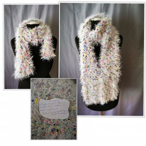 Crochet Scarf white