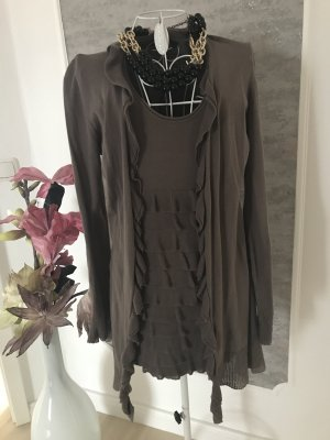 Blacky Dress Knitted Twin Set taupe