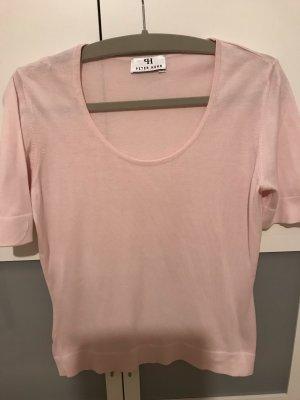 Peter Hahn Twin set in maglia rosa chiaro Cotone