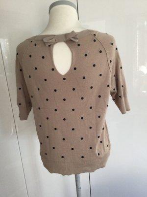 Twin set Sweter z okrągłym dekoltem szaro-brązowy-czarny