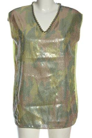 Twin set ärmellose Bluse abstraktes Muster Elegant