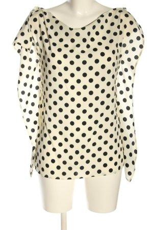 Twin set Bluzka bez rękawów w kolorze białej wełny-czarny Wzór w kropki
