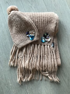 Twin set Knitted Hat multicolored