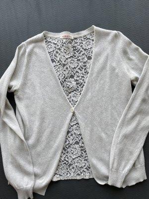 Kontatto Cardigan natural white-light grey lace