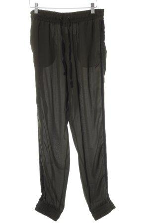 Twin set Pantalone largo cachi-nero stile casual